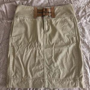 Tan Ralph Lauren blue label pencil skirt w/pockets